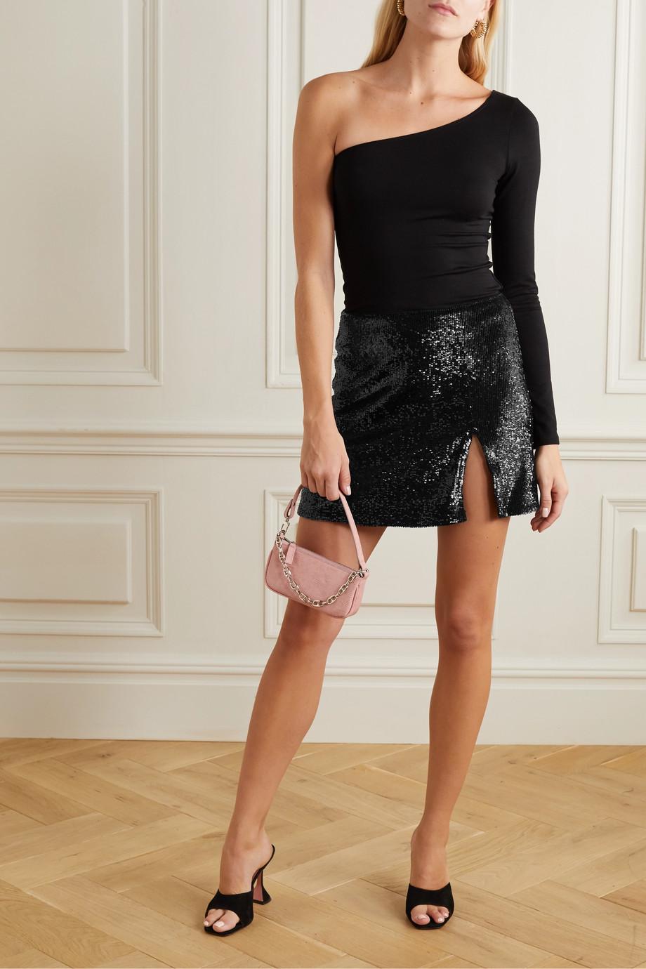 Reformation + NET SUSTAIN Quinn sequined tulle mini skirt
