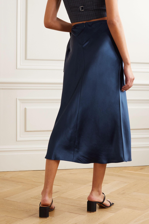 Reformation + NET SUSTAIN Pratt silk-charmeuse midi skirt