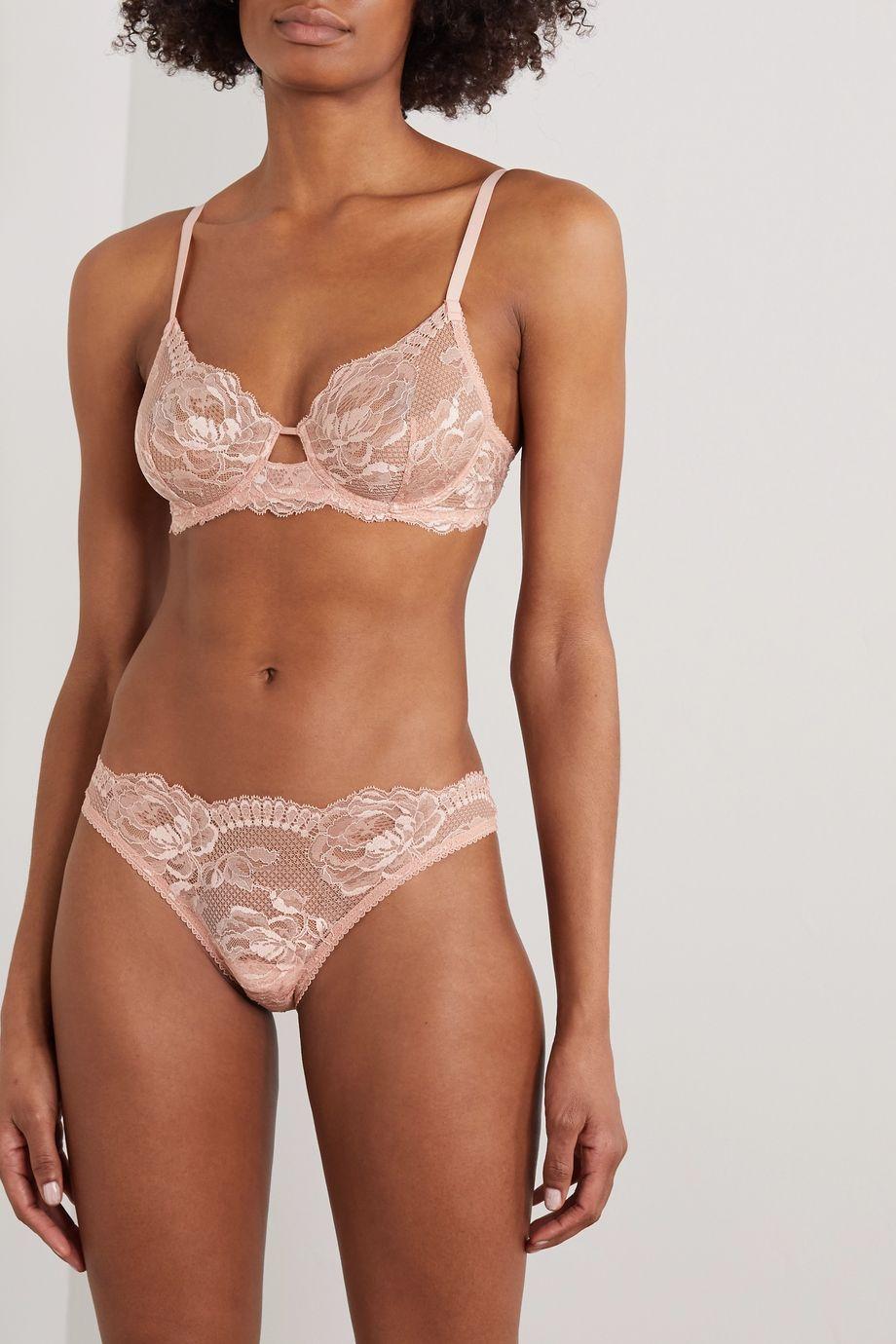 La Perla Brigitta Leavers lace underwired bra
