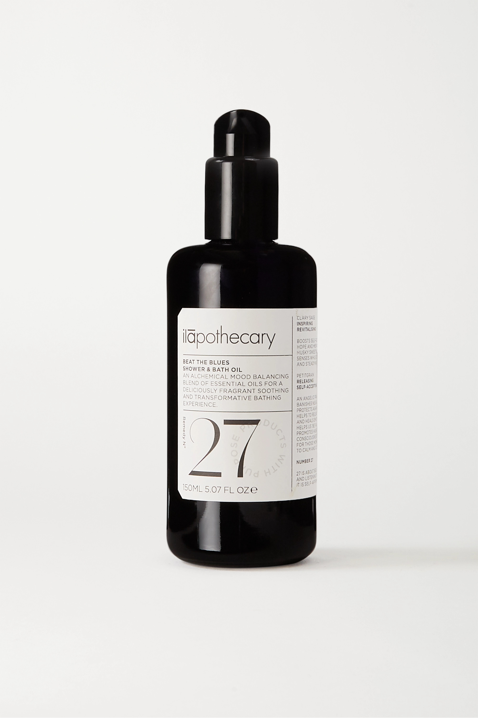 Ilapothecary + NET SUSTAIN Beat The Blues Shower and Bath Oil, 150ml