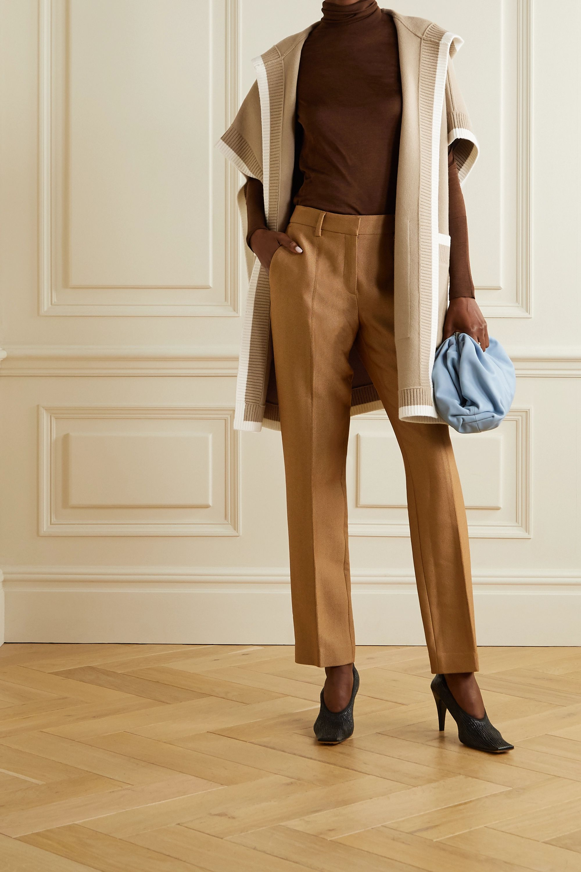 Burberry Hooded wool-blend jacquard cape