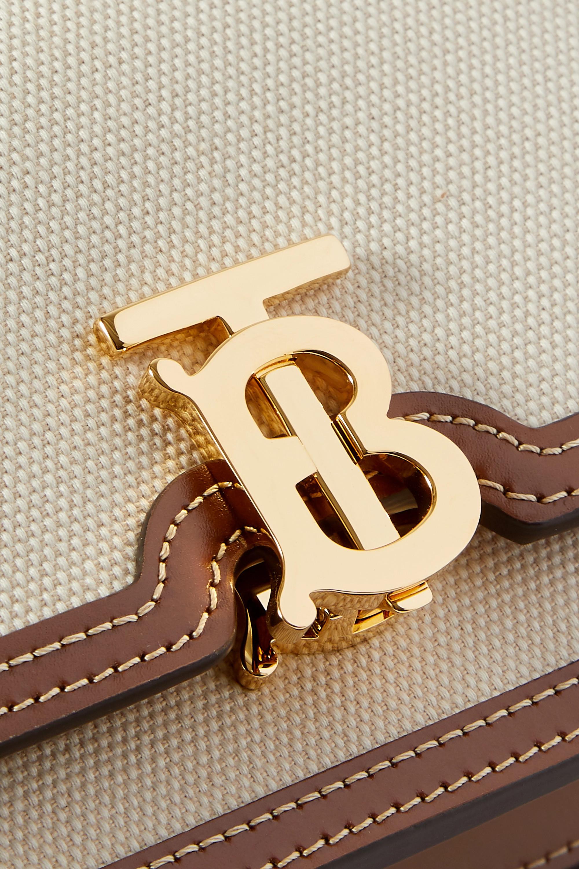 Burberry Mini leather-trimmed canvas shoulder bag