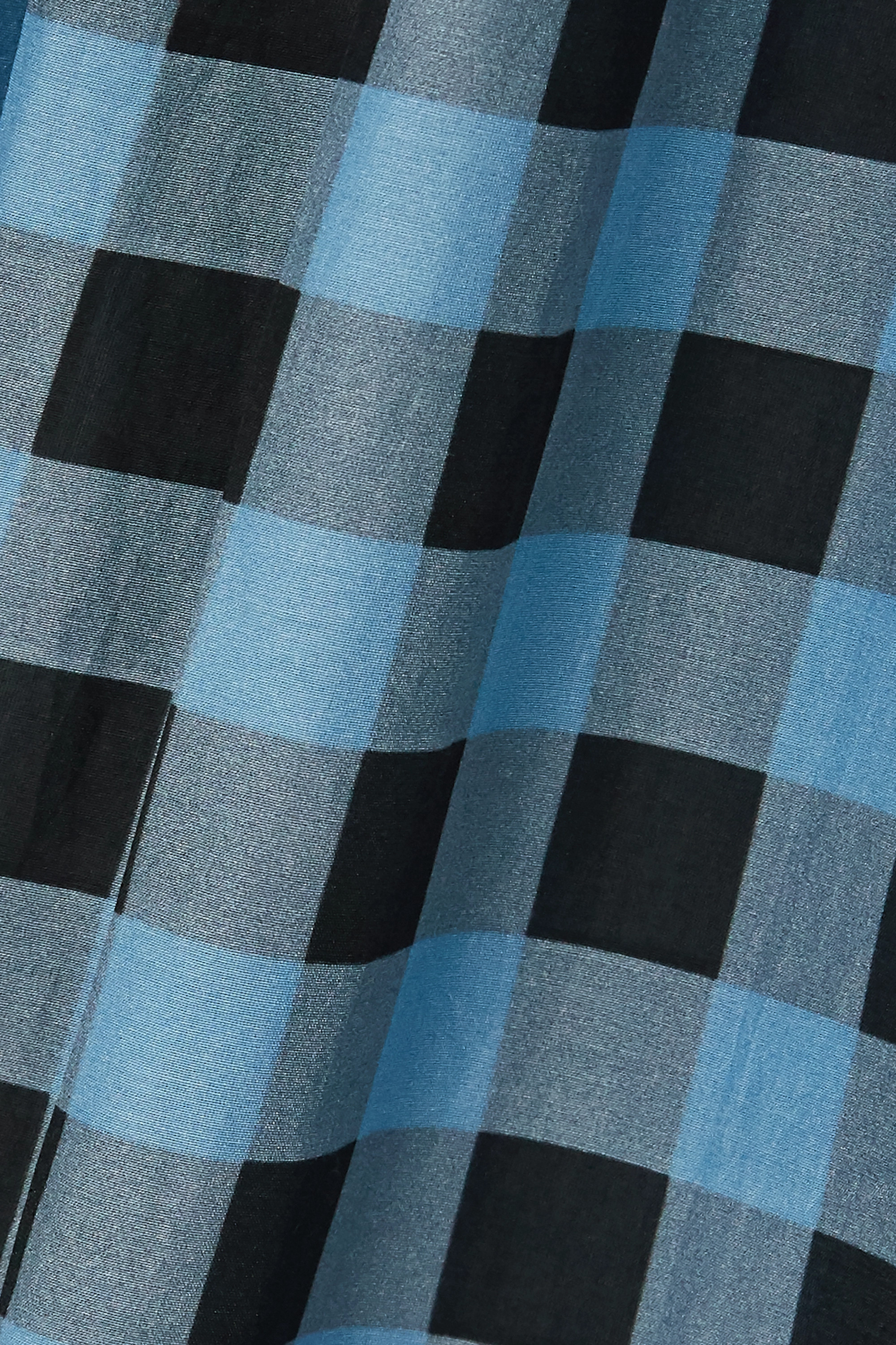 GANNI Smocked checked cotton and silk-blend maxi dress