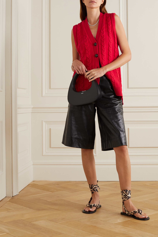 GANNI Cable-knit cotton-blend vest