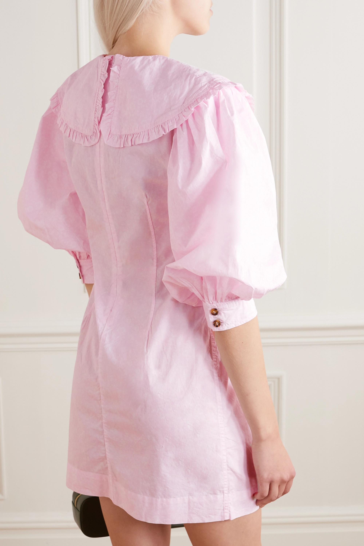 GANNI Ruffled floral-print organic cotton-poplin mini dress