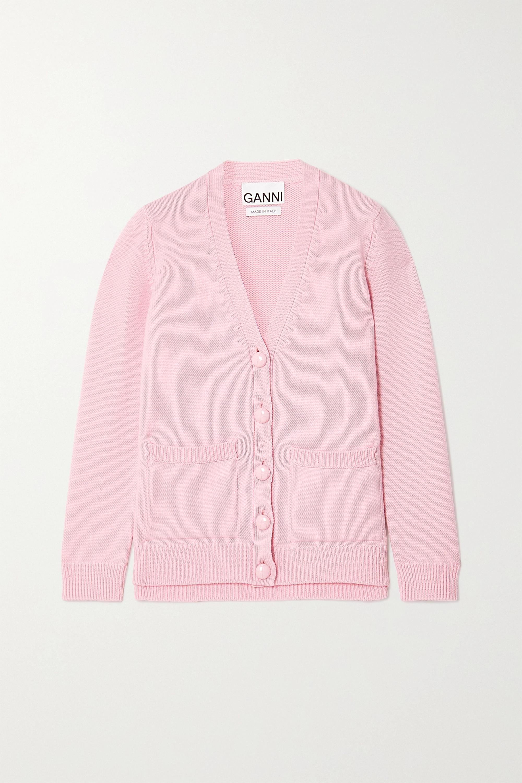 GANNI Cardigan en laine mérinos