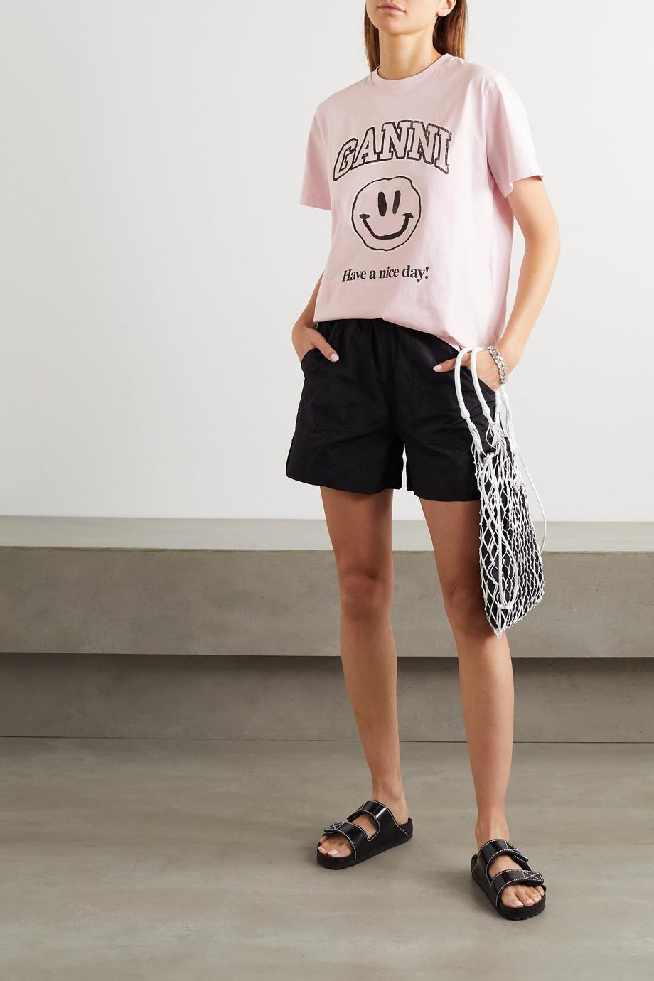 GANNI + NET SUSTAIN printed organic cotton-jersey T-shirt