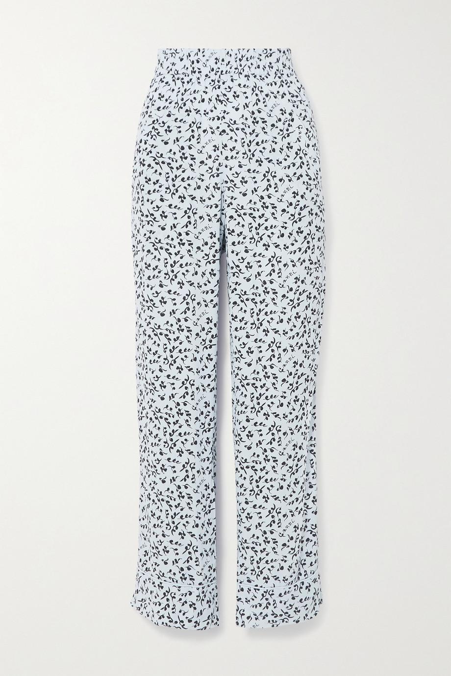 GANNI Hose mit geradem Bein aus Crêpe mit Blumenprint