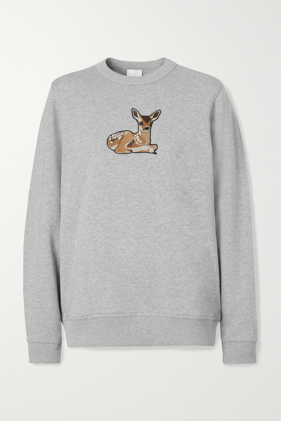 Burberry Appliquéd cotton-jersey sweatshirt