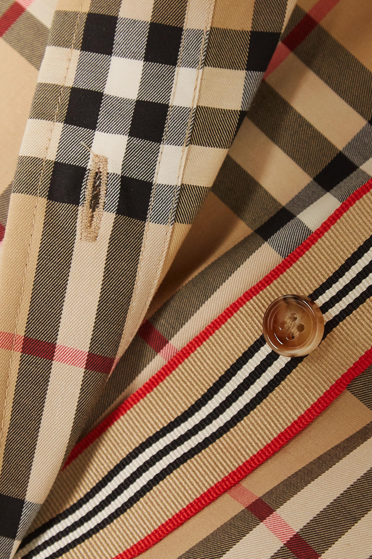 Beige Checked Cotton-blend Shirt | Burberry