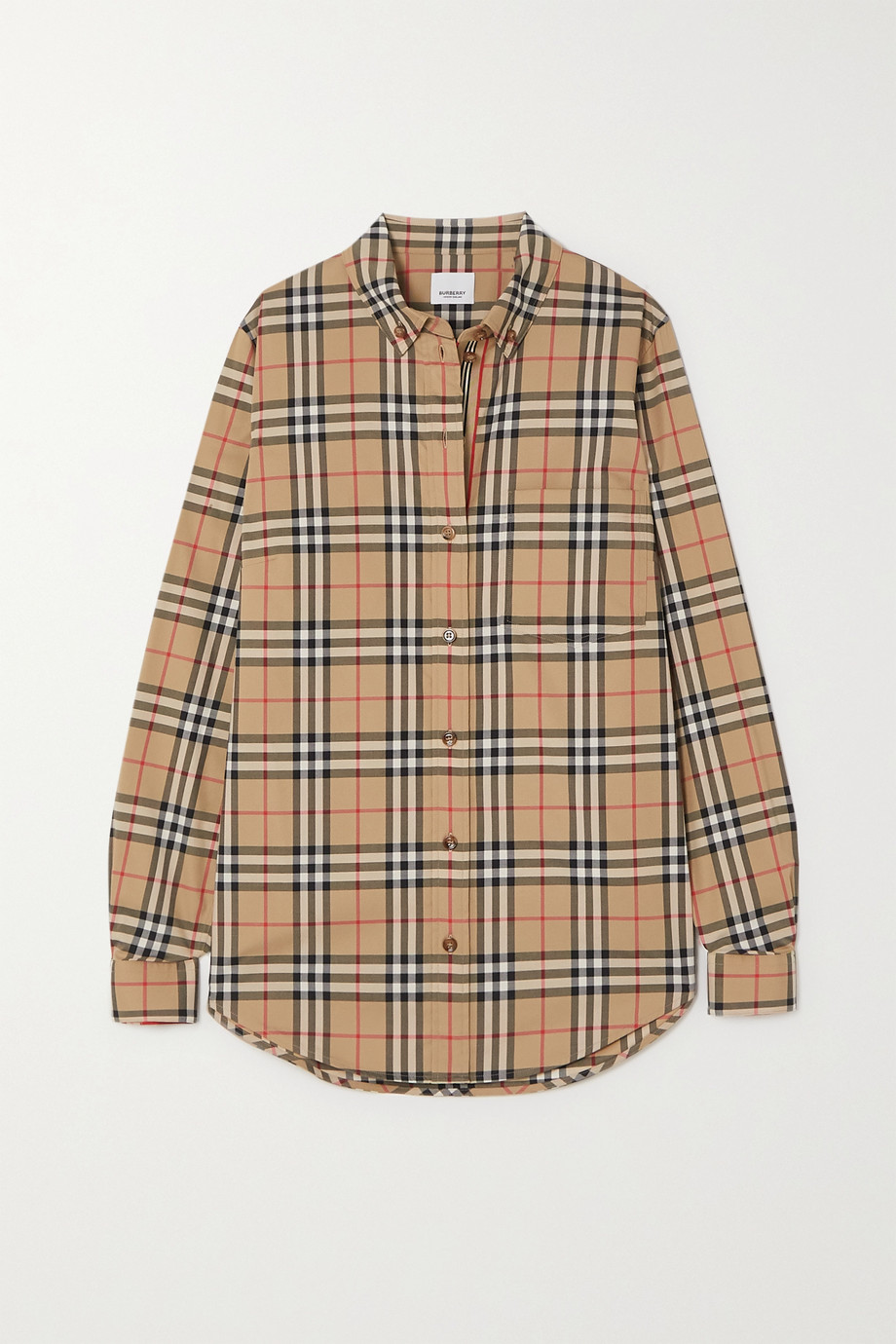 Burberry Checked cotton-blend shirt