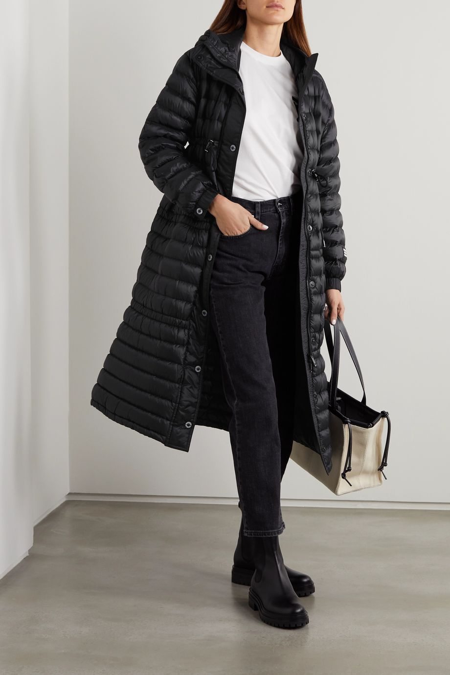 Burberry Appliquéd hooded quilted shell down coat