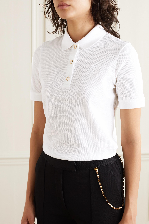 Burberry Cotton-piqué polo shirt