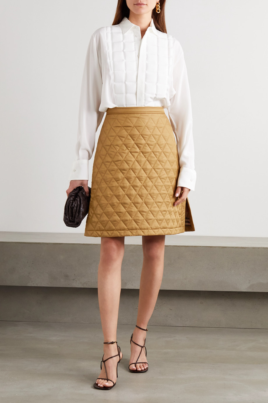 Burberry Quilted shell skirt