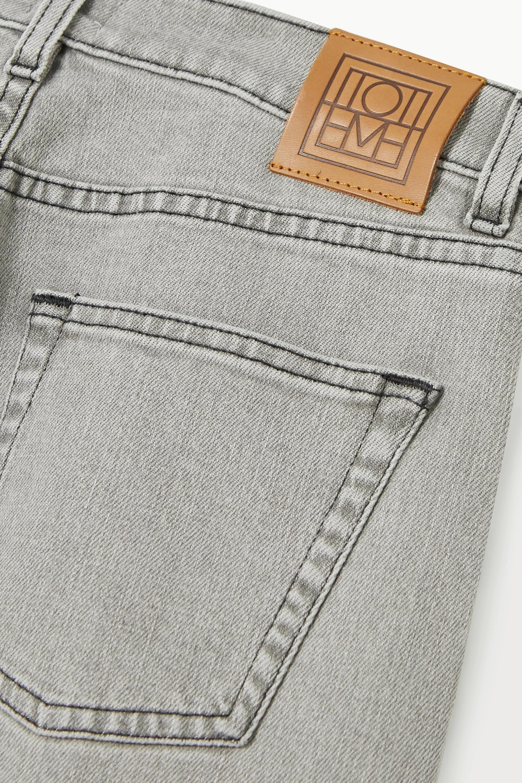Gray Original Cropped High-rise Straight-leg Jeans | Totême