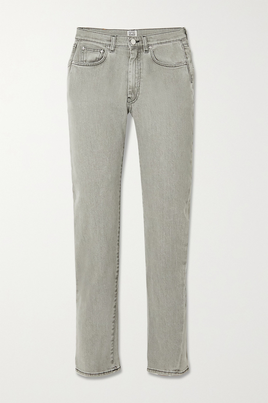Totême Original cropped high-rise straight-leg jeans