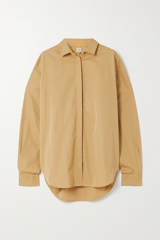 Totême Lago cotton-poplin shirt
