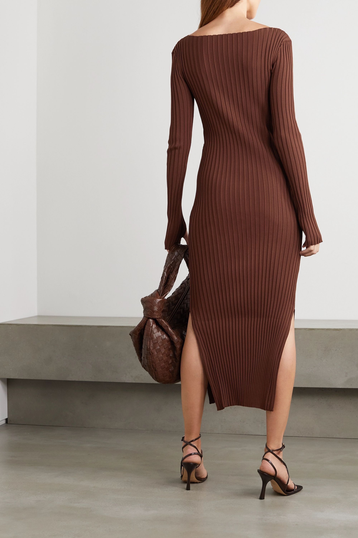 Totême Orville ribbed-knit midi dress
