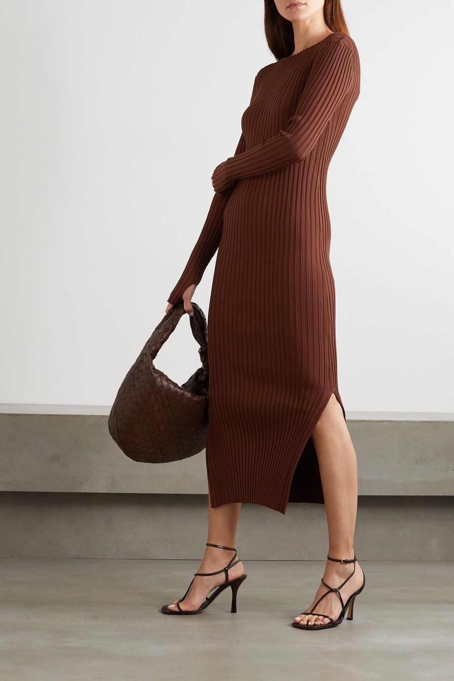 Totême Orville ribbed-knit midi dress