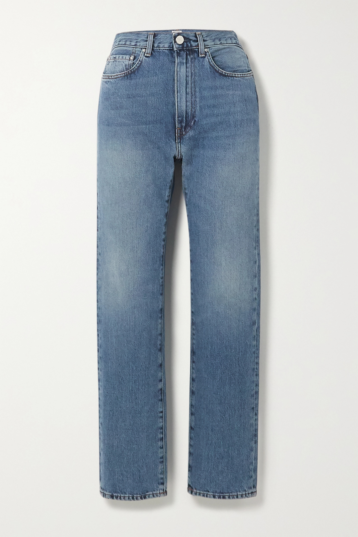 Totême Studio 高腰直筒牛仔裤