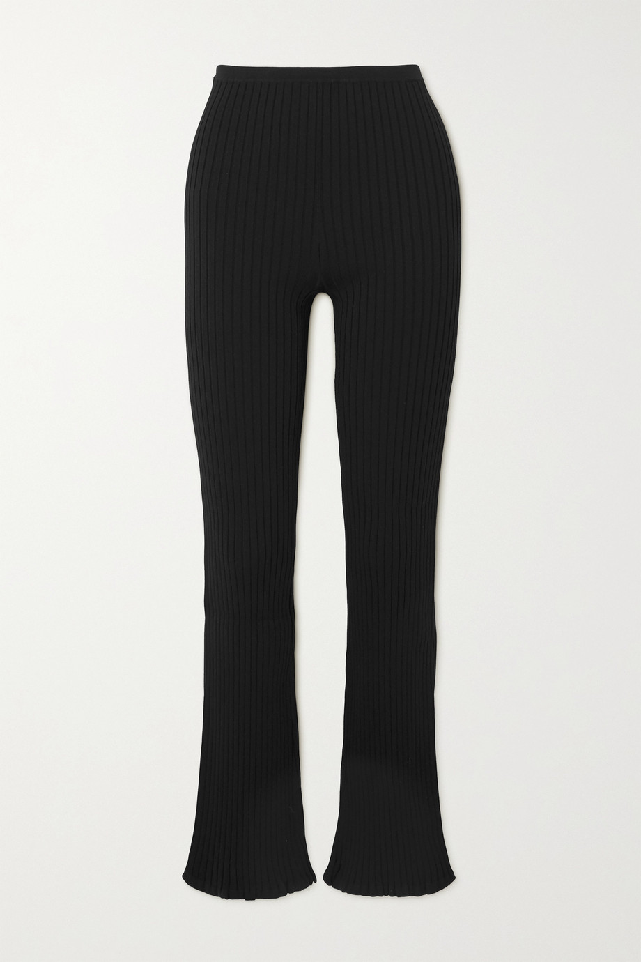 Totême Ry ribbed-knit flared pants