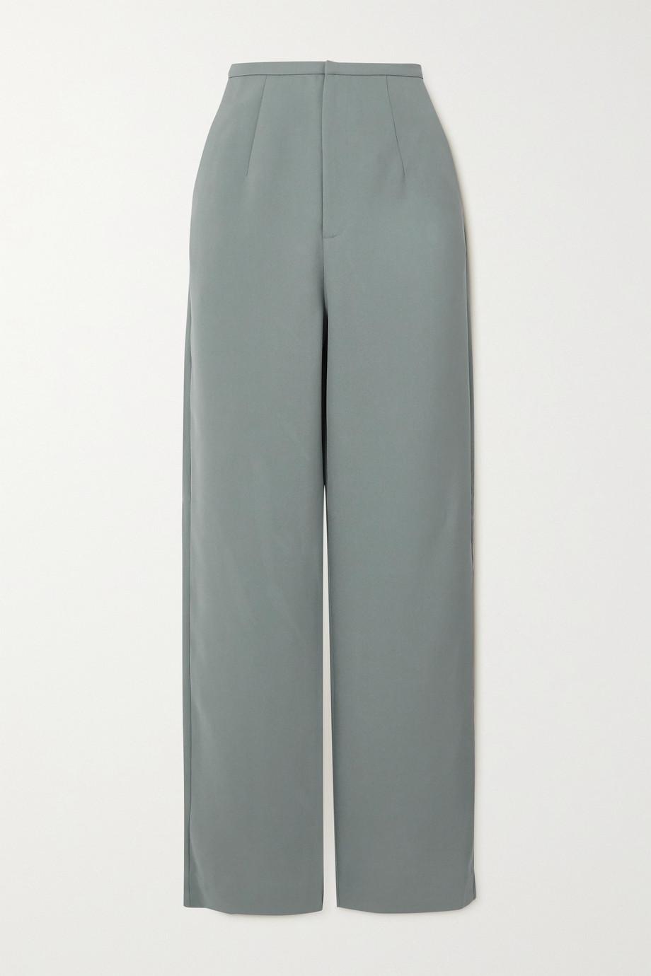 Totême Arles woven straight-leg pants