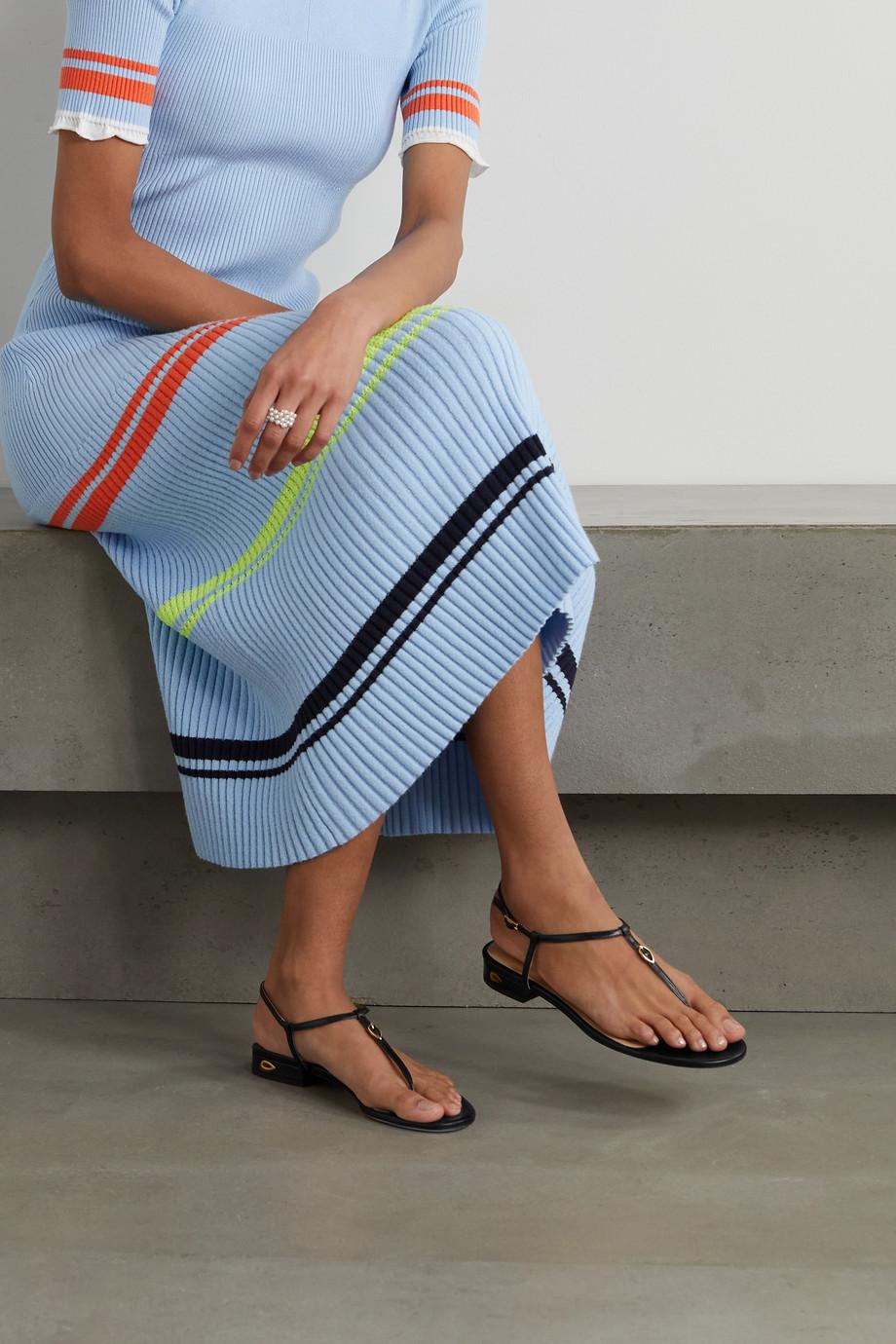 Jennifer Chamandi Pietro leather sandals