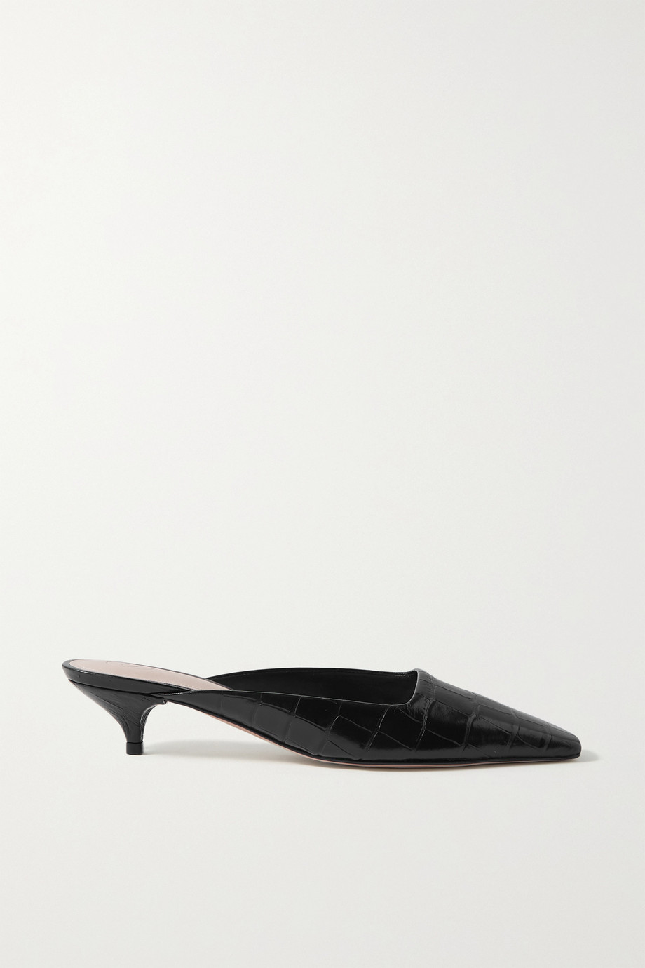 Porte & Paire Croc-effect leather mules