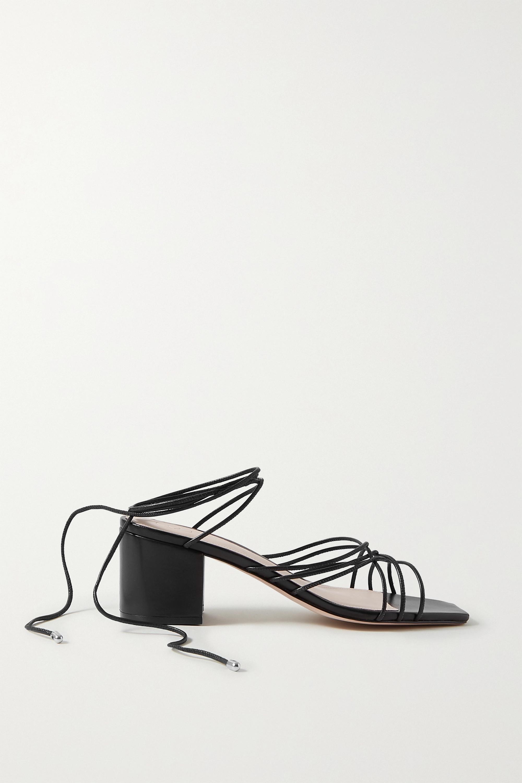 Porte & Paire Woven leather sandals