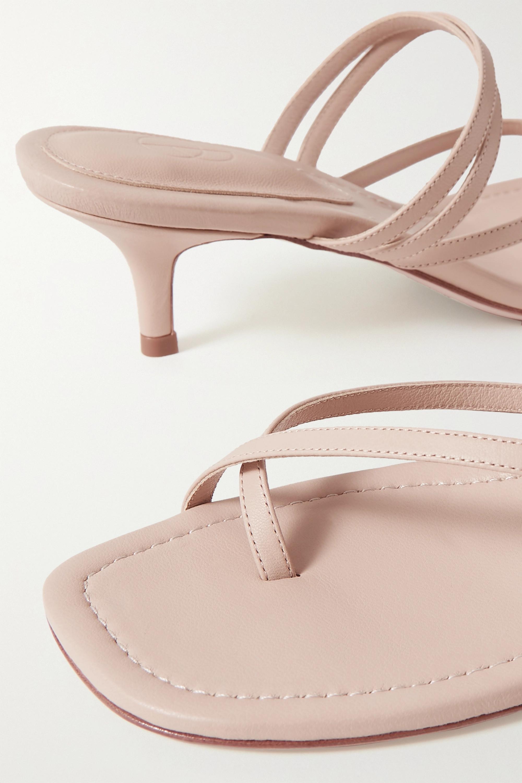Porte & Paire Leather sandals