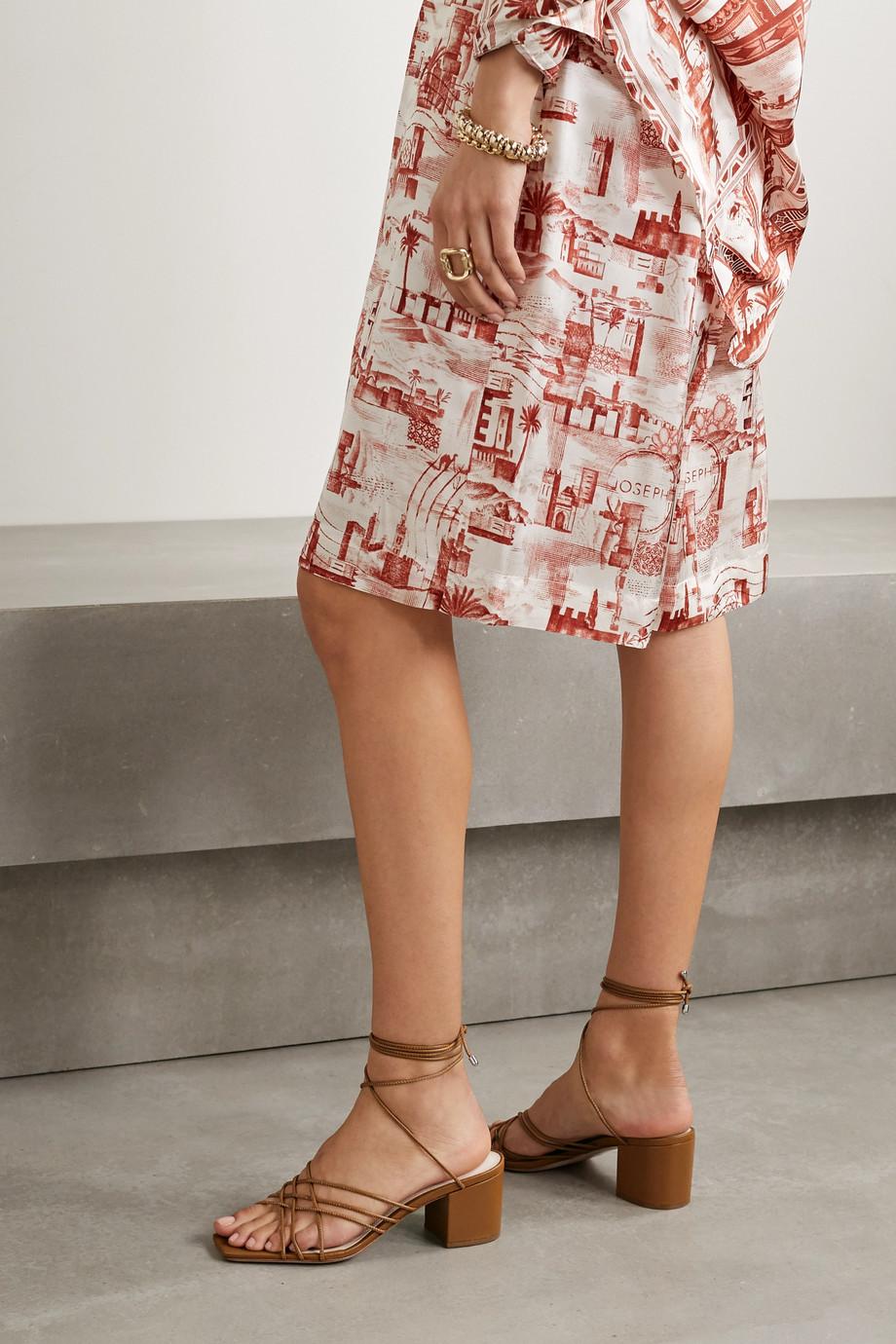 Porte & Paire Sandalen aus geflochtenem Leder