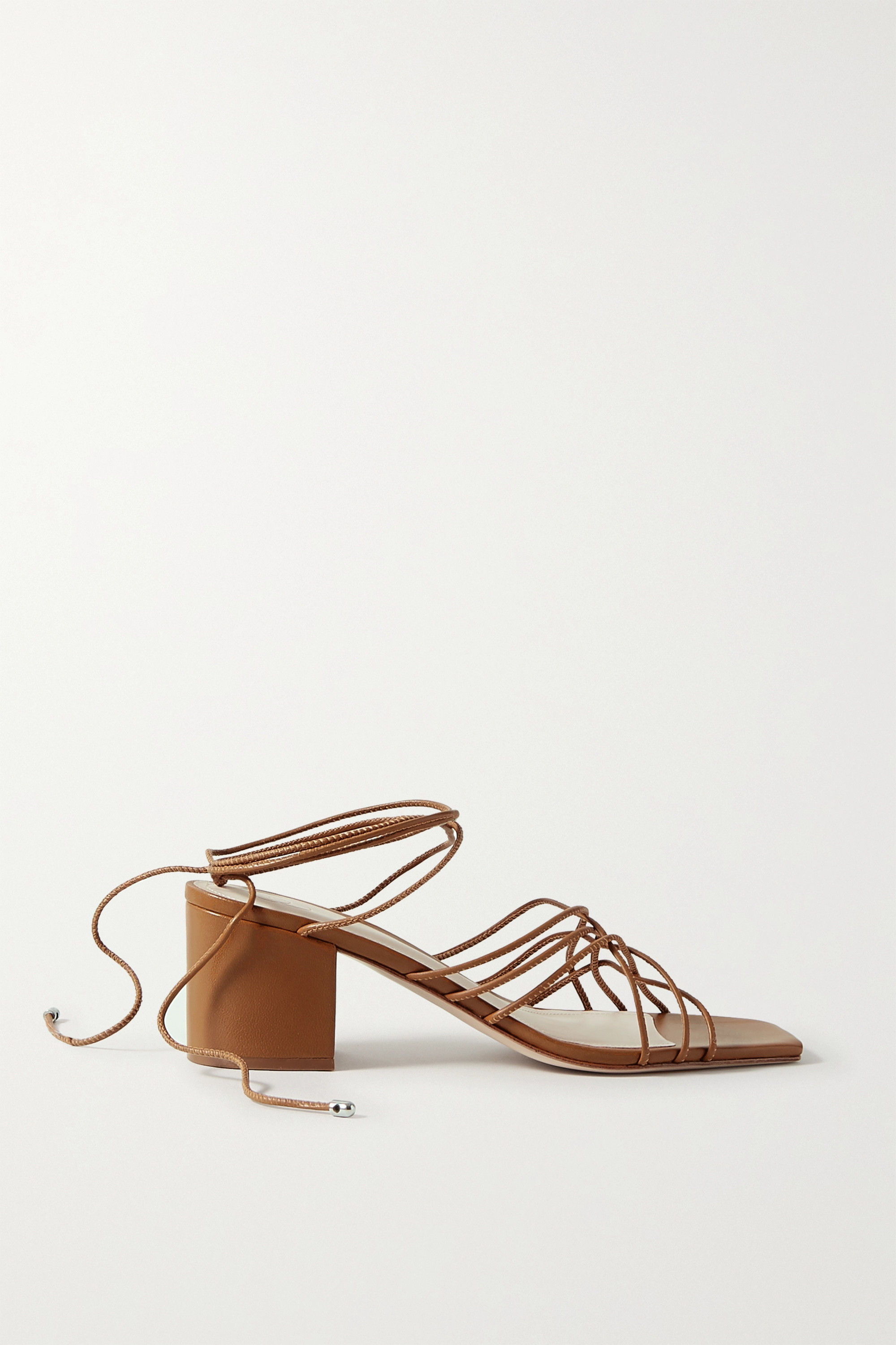 Porte & Paire Woven leather sandals