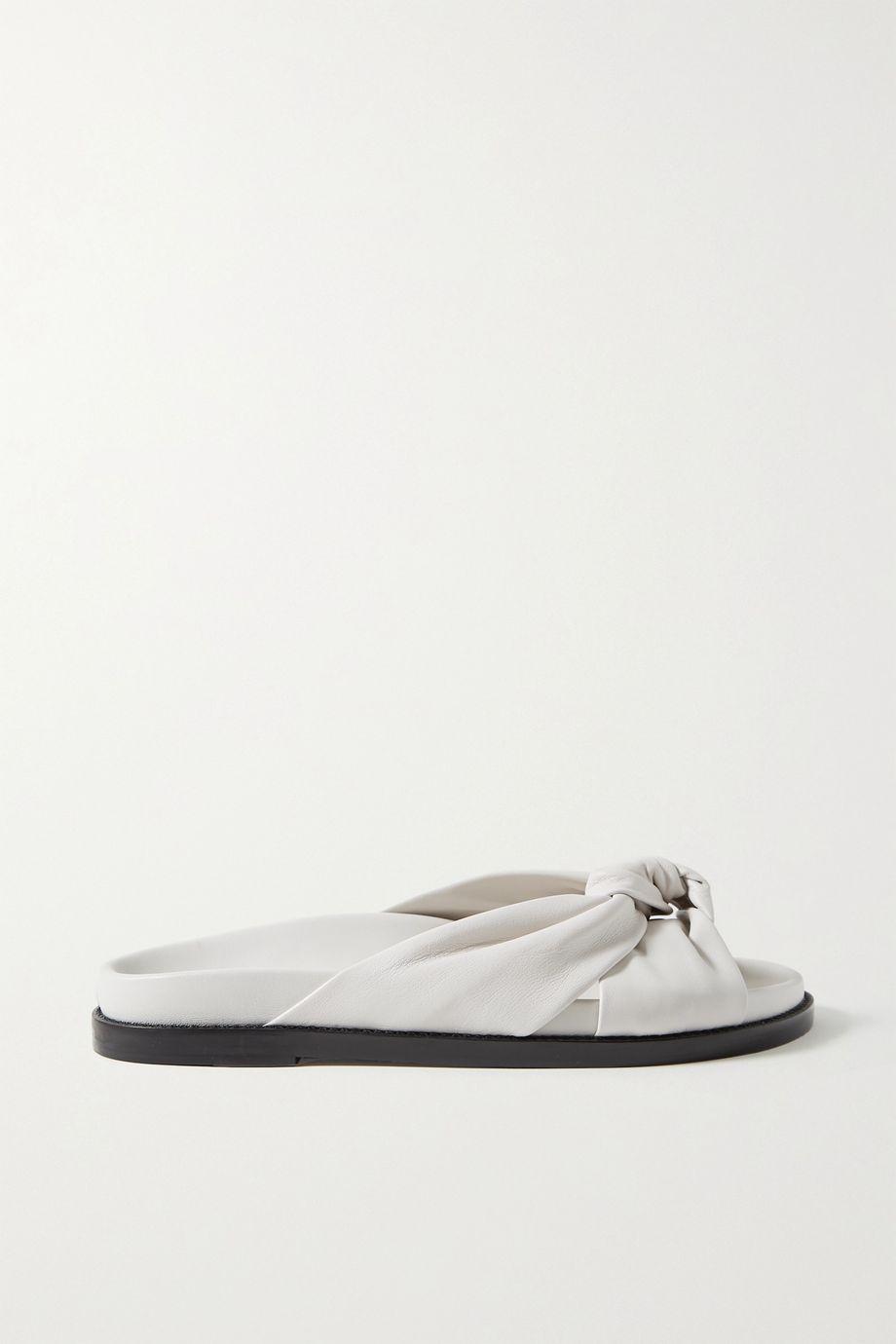 Porte & Paire 结饰皮革拖鞋