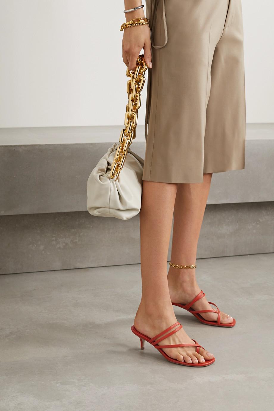 Porte & Paire 皮革凉鞋