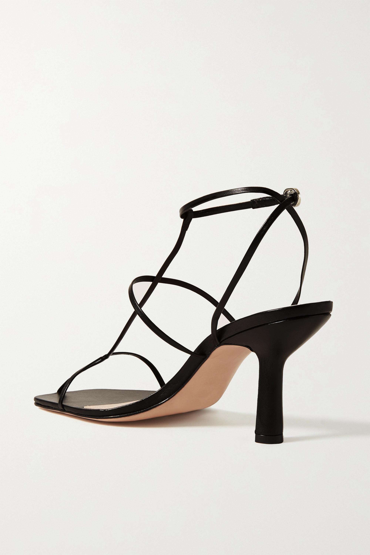 Black Leather Sandals | Porte & Paire