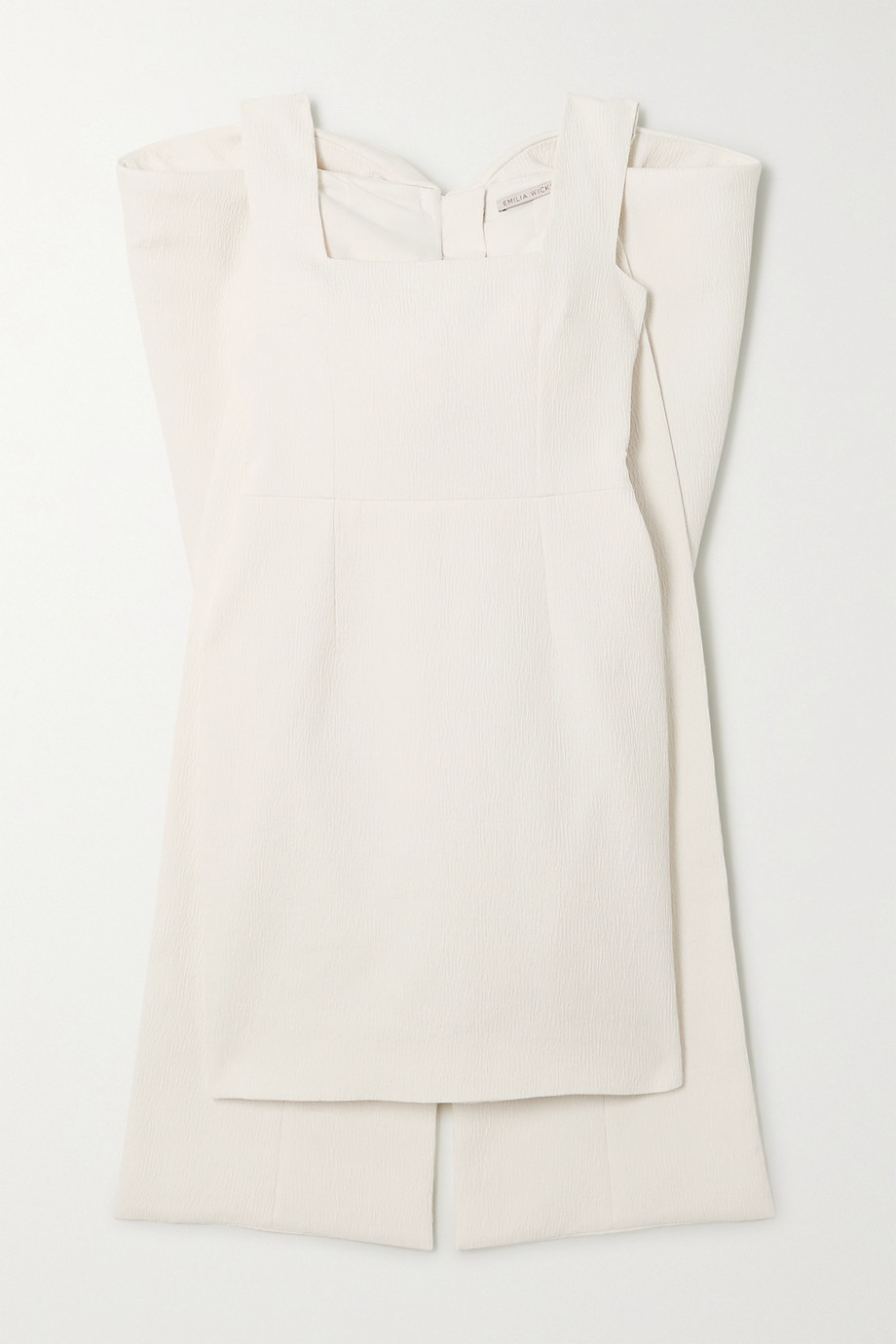 Emilia Wickstead Drusilla bow-detailed cloqué mini dress