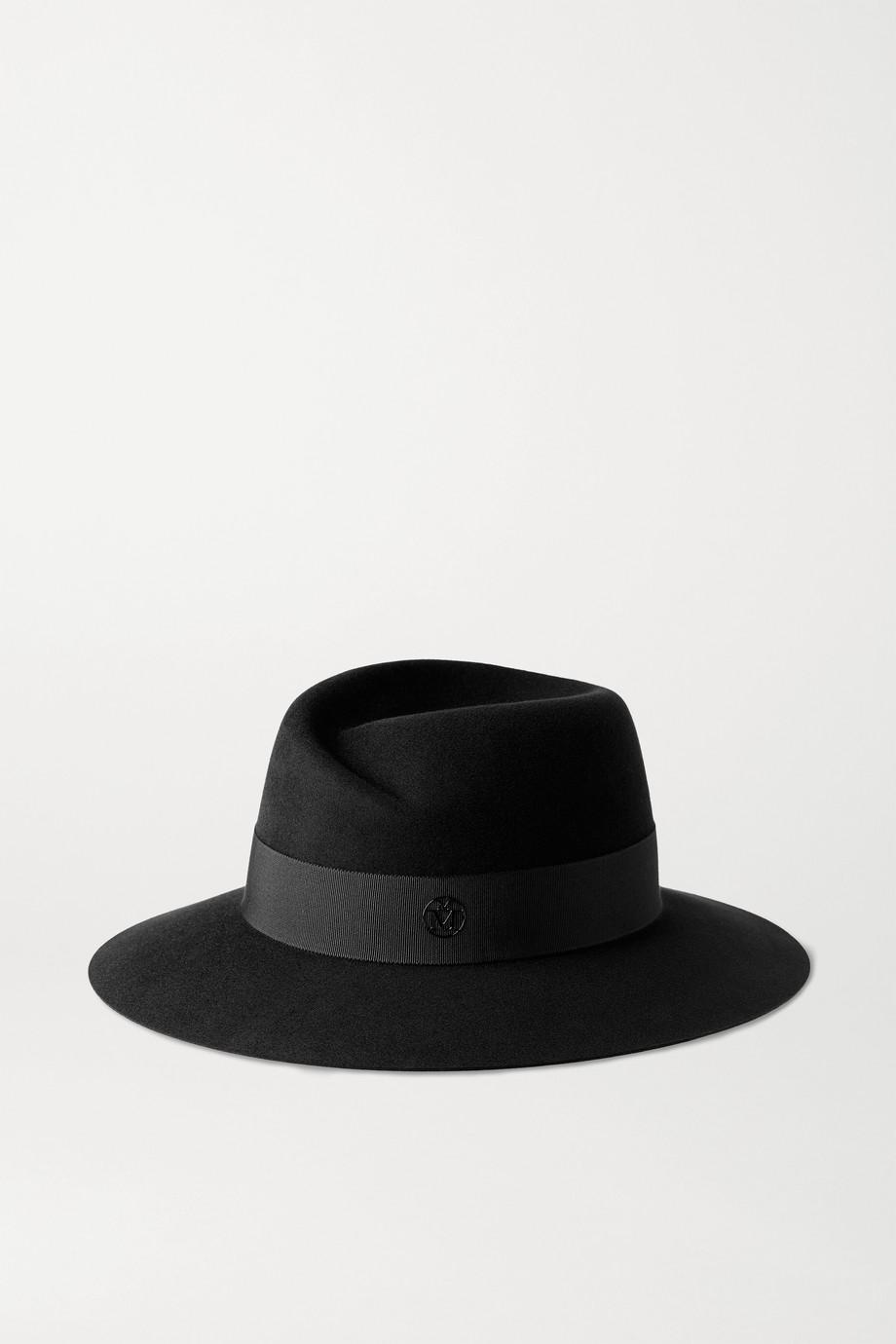 Maison Michel Virginie 罗缎边饰羊毛毡费多拉帽
