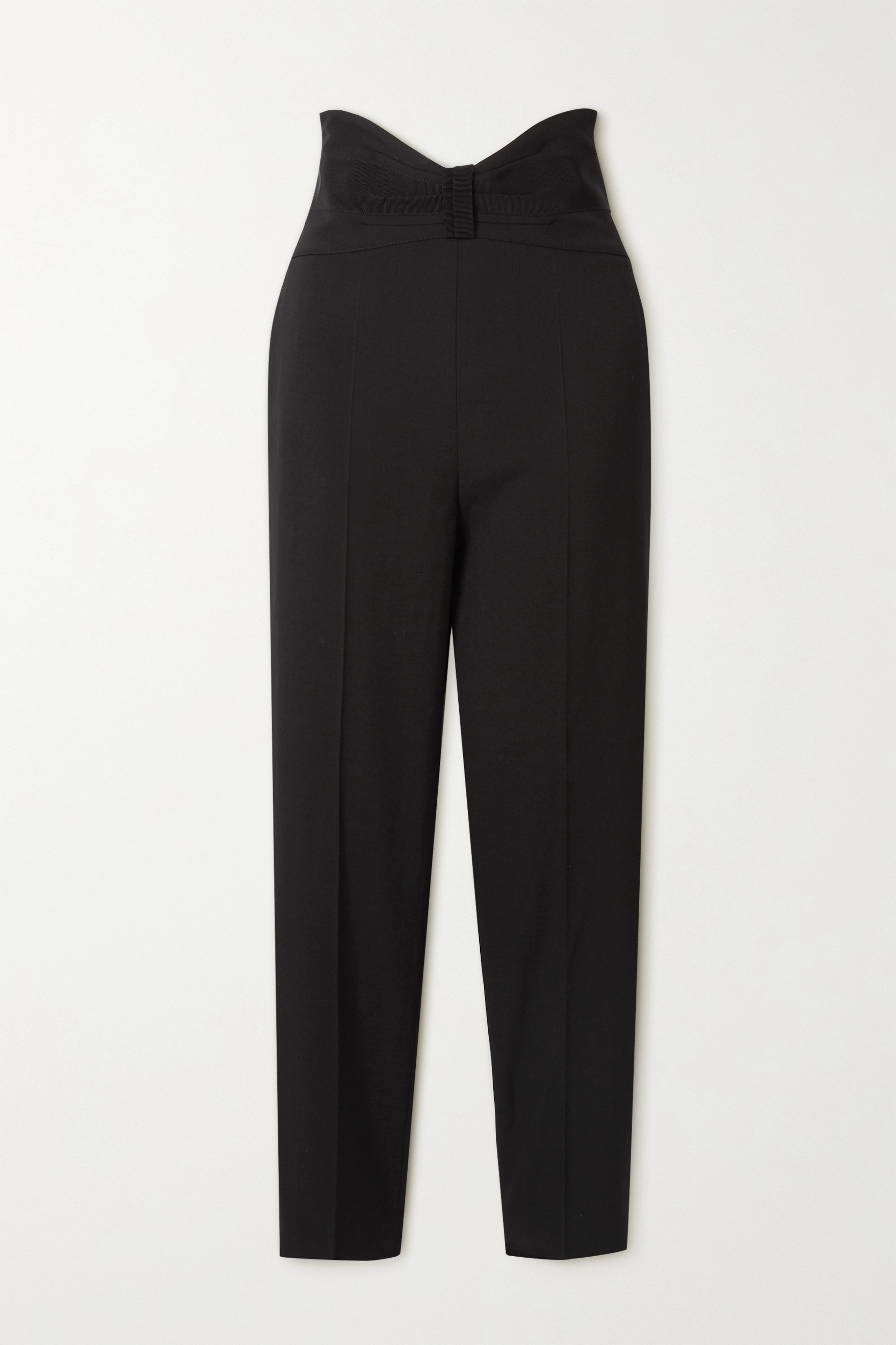 REDValentino Grosgrain-trimmed crepe tapered pants