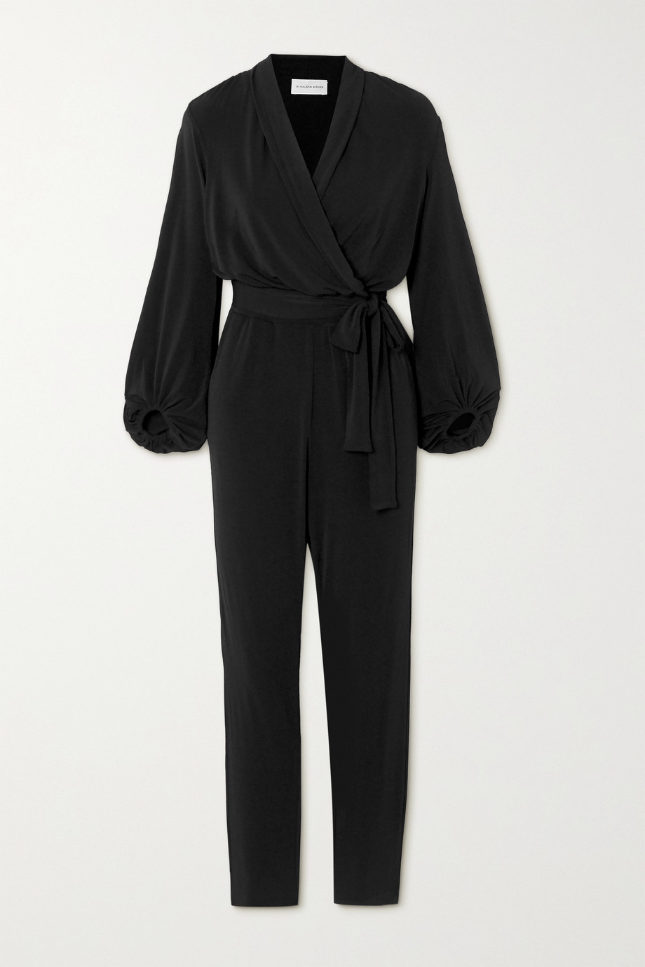 By Malene Birger Editha draped wrap-effect stretch-jersey jumpsuit