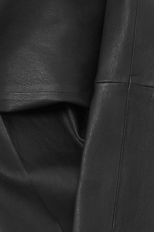 By Malene Birger Florentina cropped paneled leather slim-leg pants