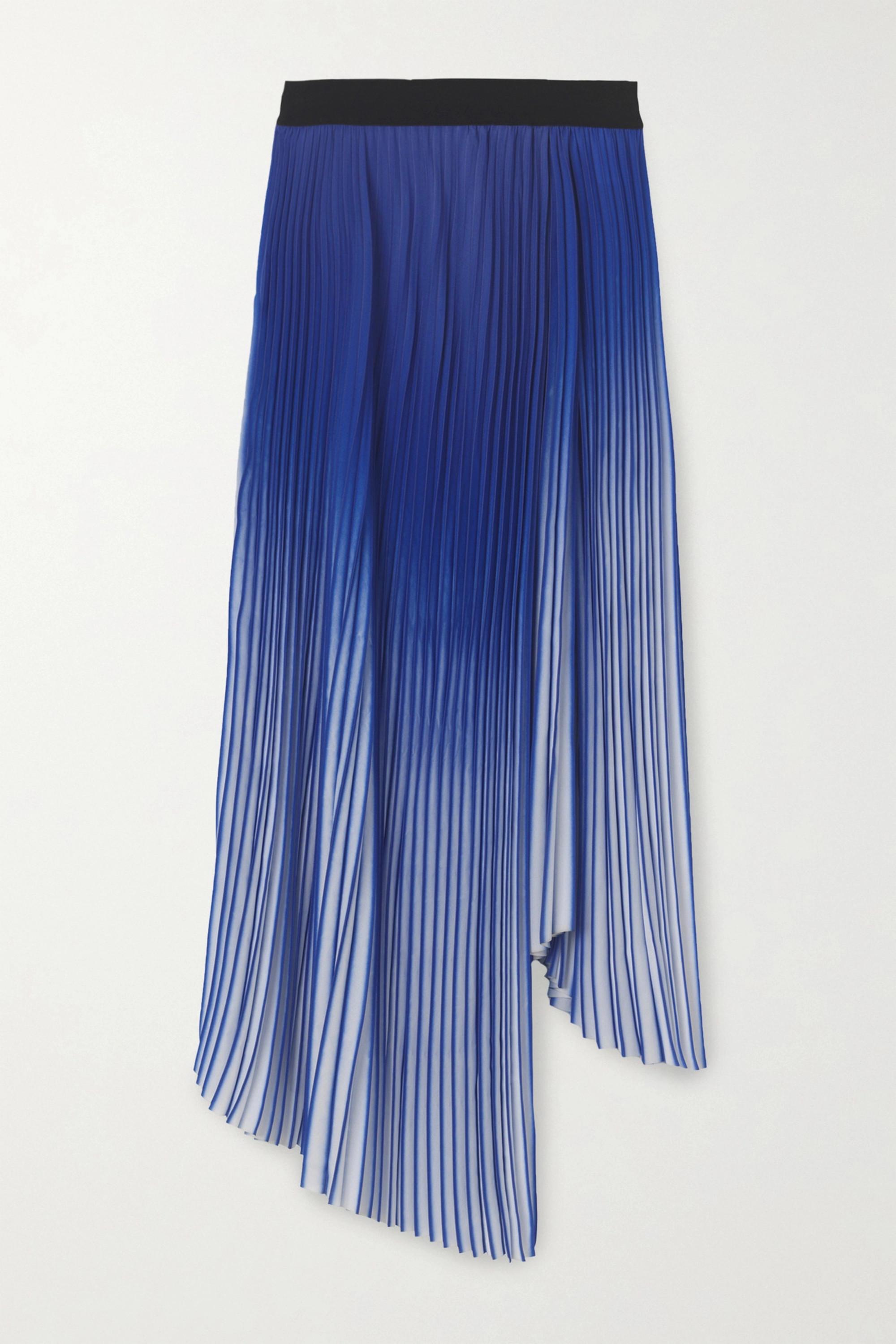 By Malene Birger Piza asymmetric pleated crepe de chine midi skirt