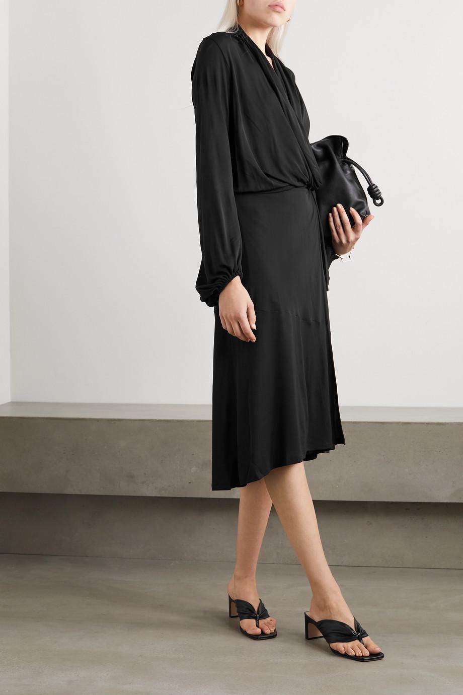 By Malene Birger Ismene draped satin-jersey wrap midi dress