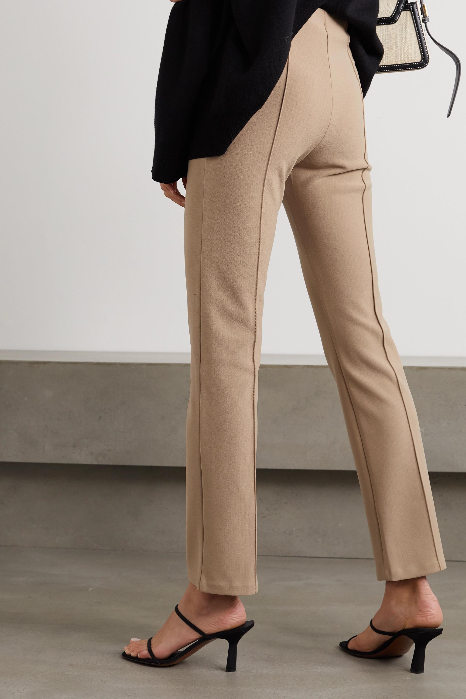 Beige Christah Stretch-crepe Slim-leg Pants | By Malene Birger