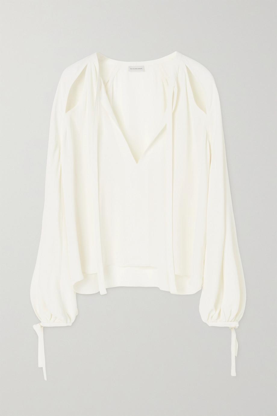 By Malene Birger Henrya cutout crepe de chine blouse
