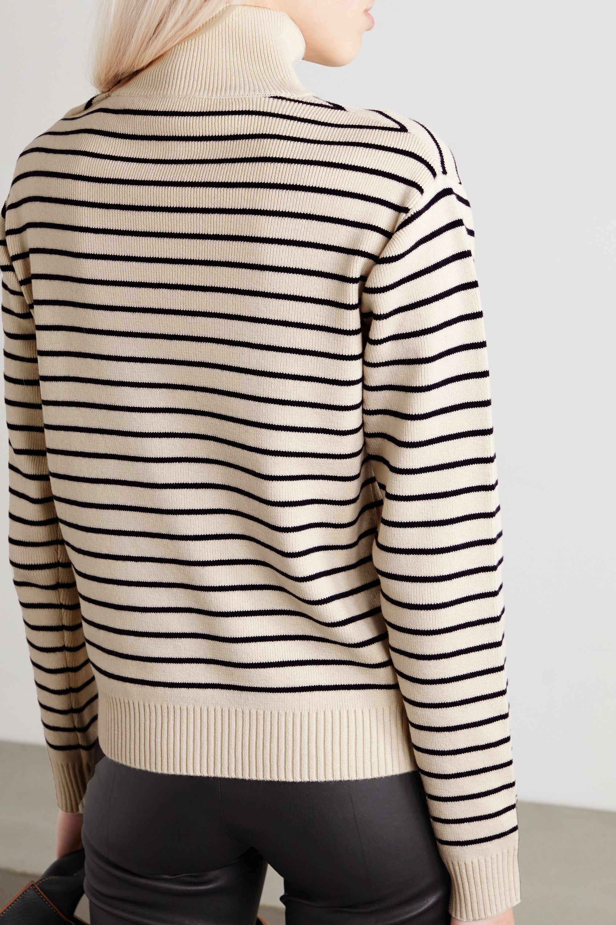By Malene Birger Layia striped merino wool and cotton-blend sweater