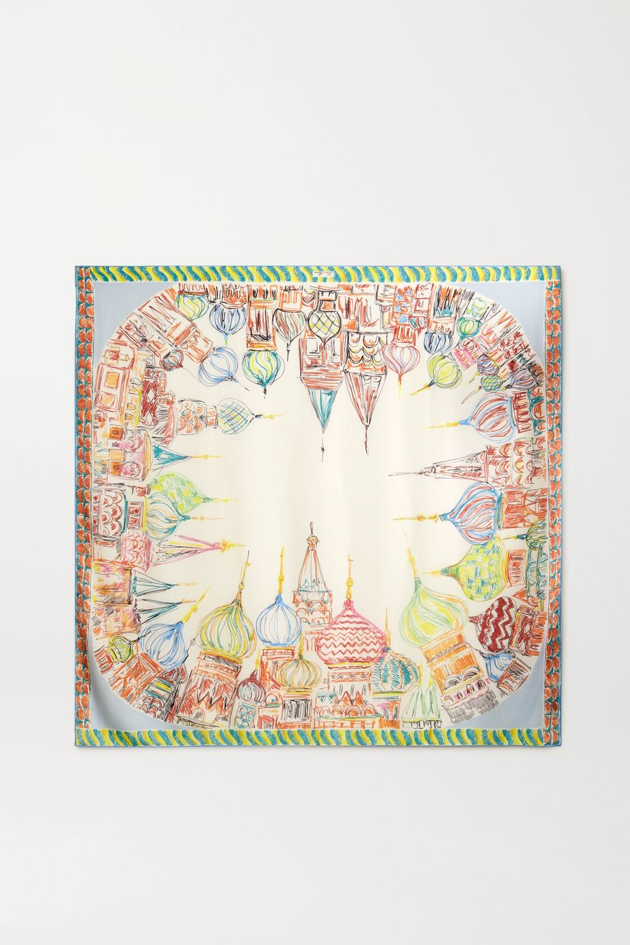 Loro Piana Moscow Tuch aus einer bedruckten Kaschmir-Seidenmischung