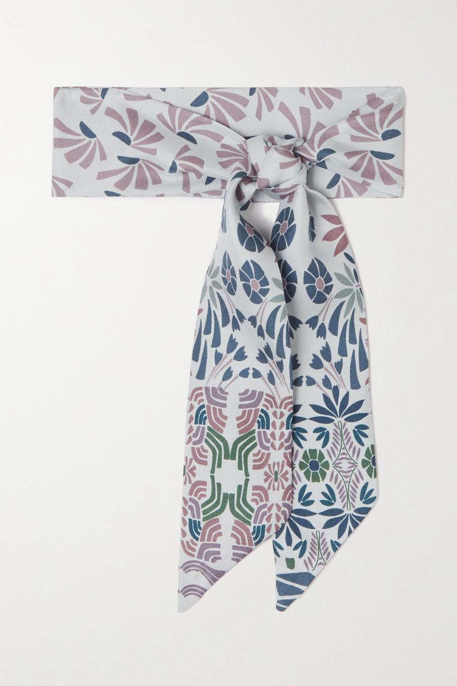 Loro Piana Tuch aus Seiden-Twill mit Blumenprint