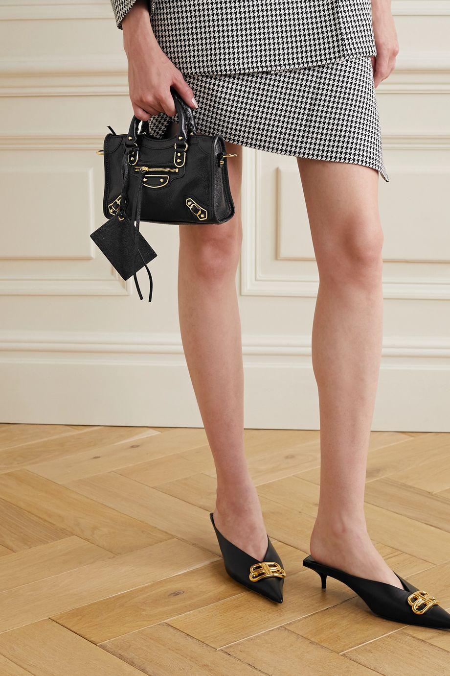 Balenciaga Classic City nano textured-leather tote