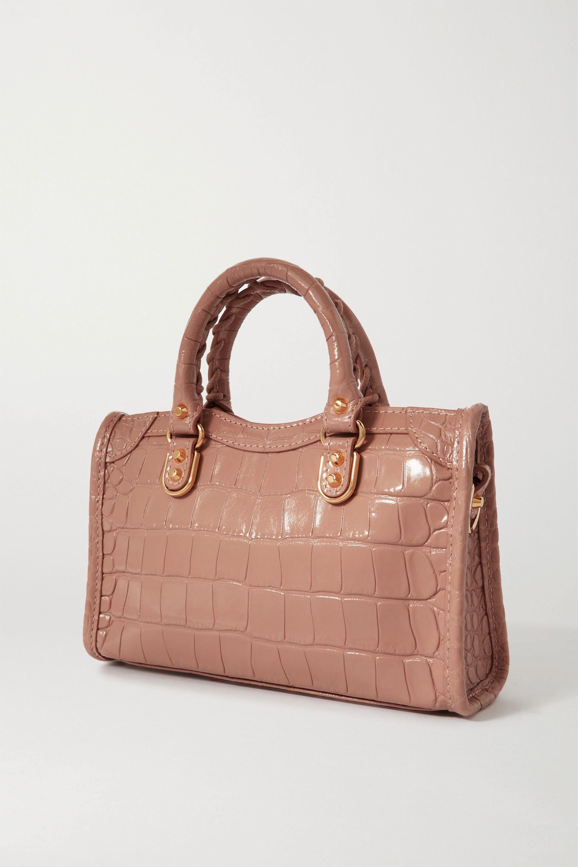 Balenciaga Classic City nano croc-effect leather tote