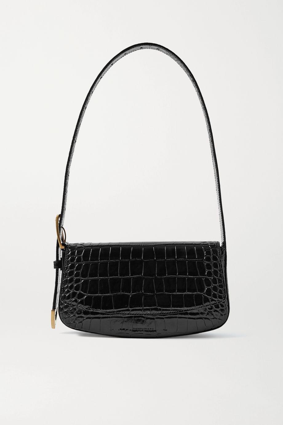 Balenciaga Ghost croc-effect leather shoulder bag
